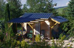 Cabance de jardin avec terrasse