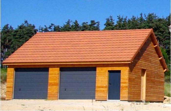 Garage de 63m² avec bardage en douglas