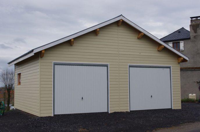 Garage Avec Bardage Peint Résinence Construction Bois Résinence